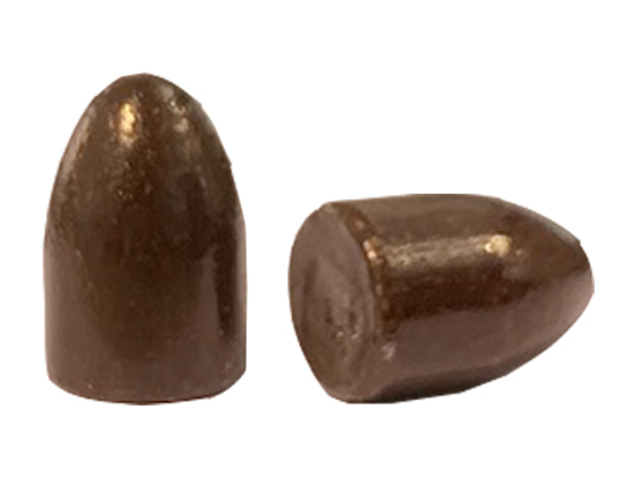 38/357 and 9 MM Round Nose No Lube Groove Coated Bullet
