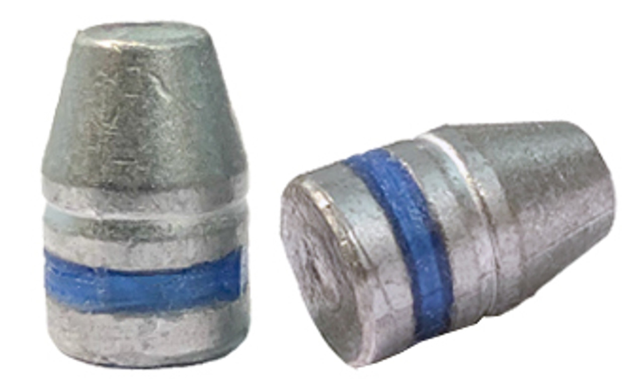 38/357 and 9 MM 125 Grain Truncated Cone Flat Point - Flat Bottom Lubed Bullet