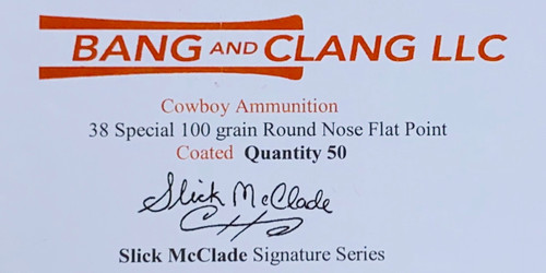 Sample Box of Slick McClade's 38 Special 100g RNFP Coated Bullets