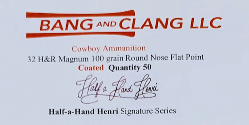 Sample Box of Half a Hand Henri's 32 H&R Magnum 100g RNFP Coated Bullets