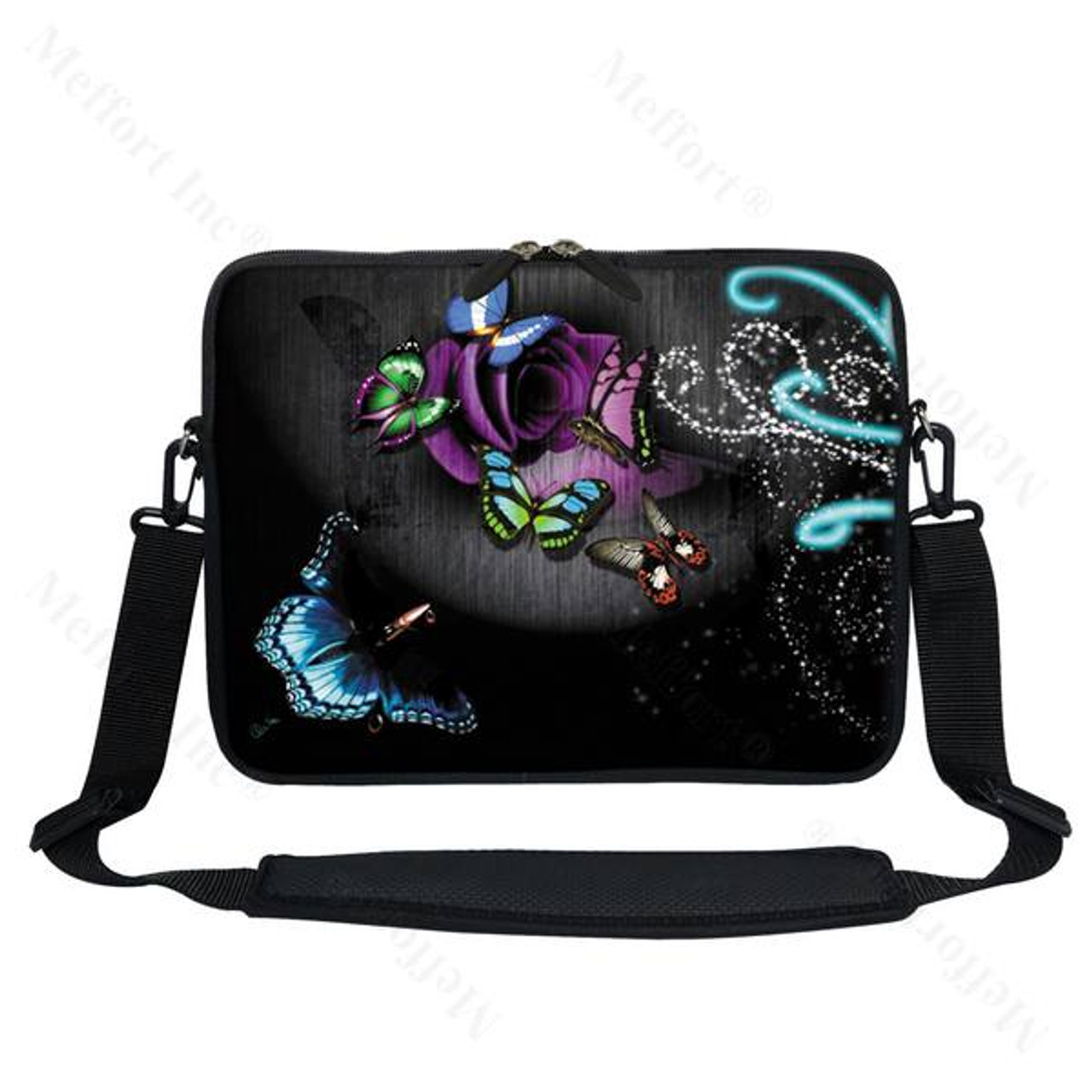 """15.6/"""" Laptop Computer Sleeve Case Bag w Hidden Handle /& Shoulder Strap 1402"""
