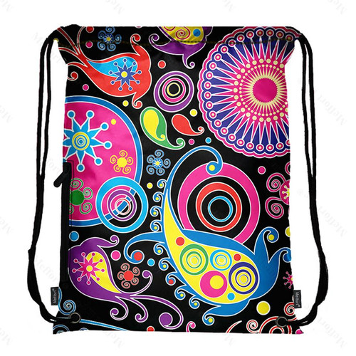 Drawstring Bag with Side Pocket 2701
