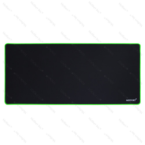 "35.4 x 15.7"" Extra Large Gaming  Mouse Pad - Black with Green Edge"