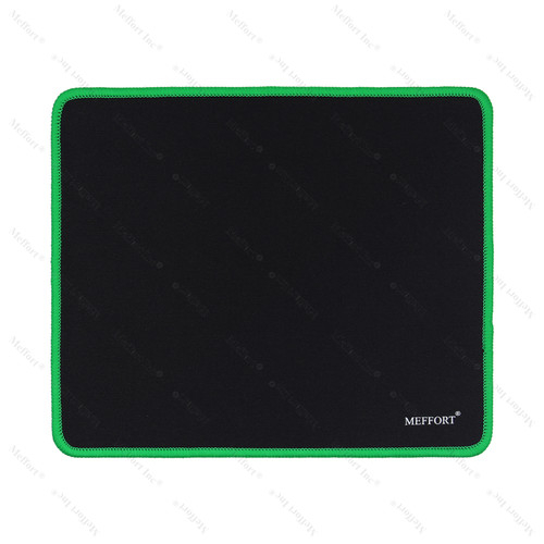 """9.5 x 7.9"""" Gaming Standard Mouse Pad - Black with Green Edge"""
