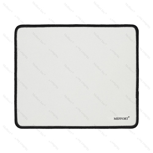 """9.5 x 7.9"""" Gaming Standard Mouse Pad - White with Black Edge"""