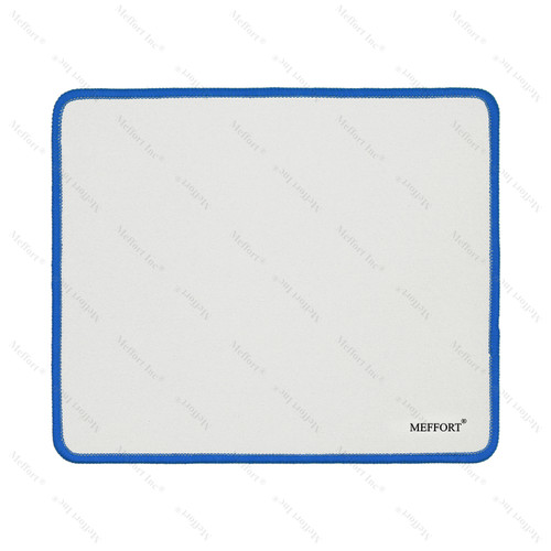 """9.5 x 7.9"""" Gaming Standard Mouse Pad - White with Blue Edge"""