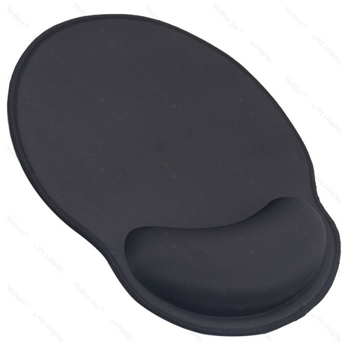 Mouse Pad with Wrist Rest Support - Black with Black Edges