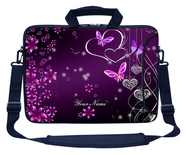 Customized Name Laptop Bag (Side Pocket) 2503