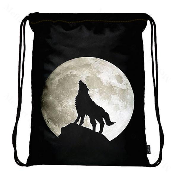 Drawstring Bag with Side Pocket 3177