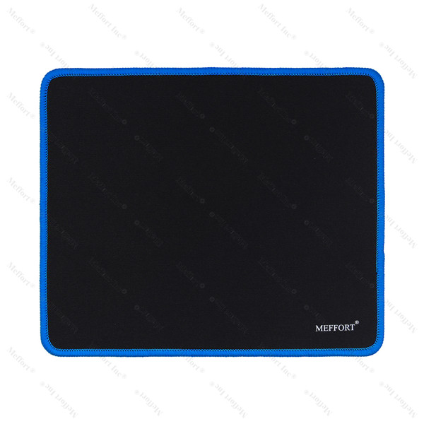 """9.5 x 7.9"""" Gaming Standard Mouse Pad - Black with Blue Edge"""