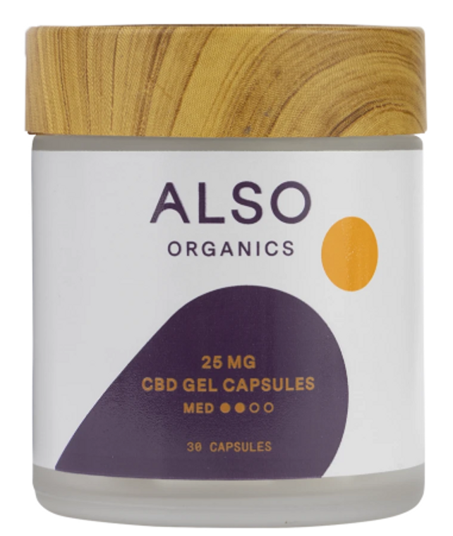 Also Organics Gel Caps - Free Delivery Today for all CBD products to the Seattle Area
