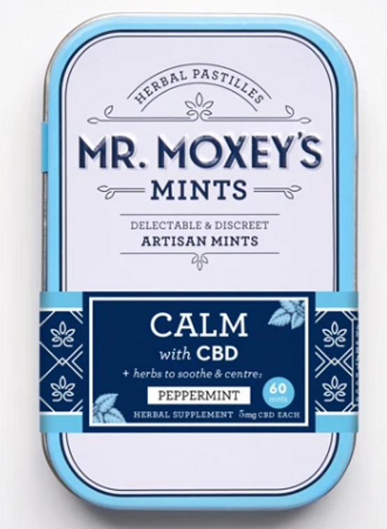Mr Moxey's CALM Peppermint mints - Free Delivery Today for all CBD products to the Seattle Area