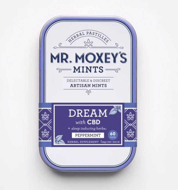 Mr Moxey's DREAM Peppermint mints with herbal allies - Free Delivery Today for all CBD products to the Seattle Area