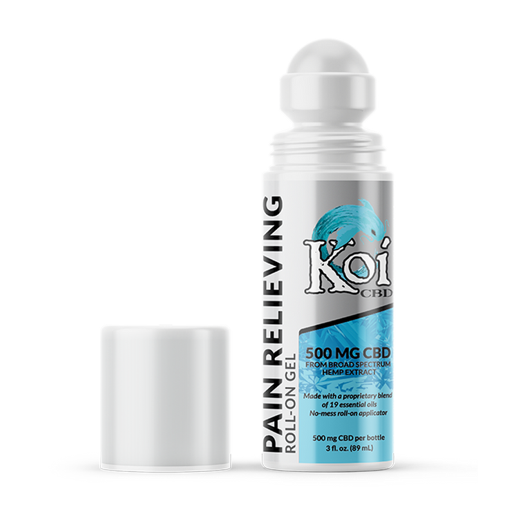 Koi CBD Gel Roll-on for pain relief and supporting you against aches from muscle and joint pain.