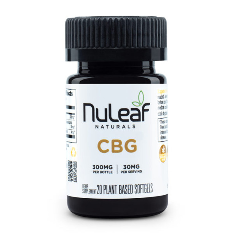 NuLeaf Naturals, premium CBG Gel Caps - Free Delivery Today for all CBD products to the Seattle Area