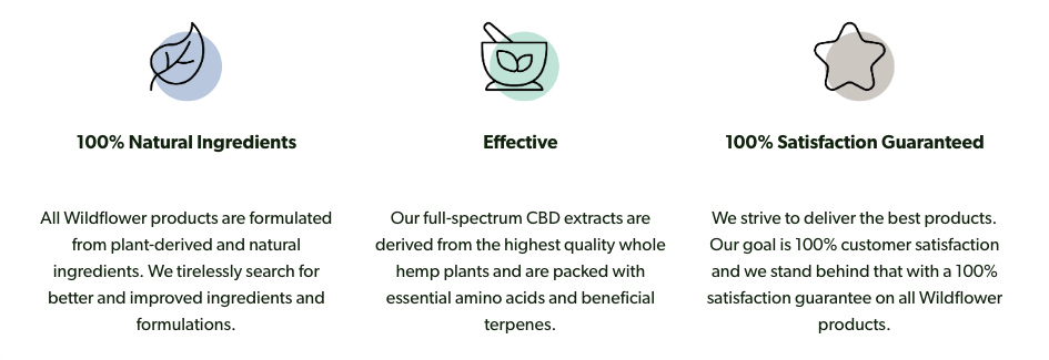 Wildflower CBD brand promise and mission