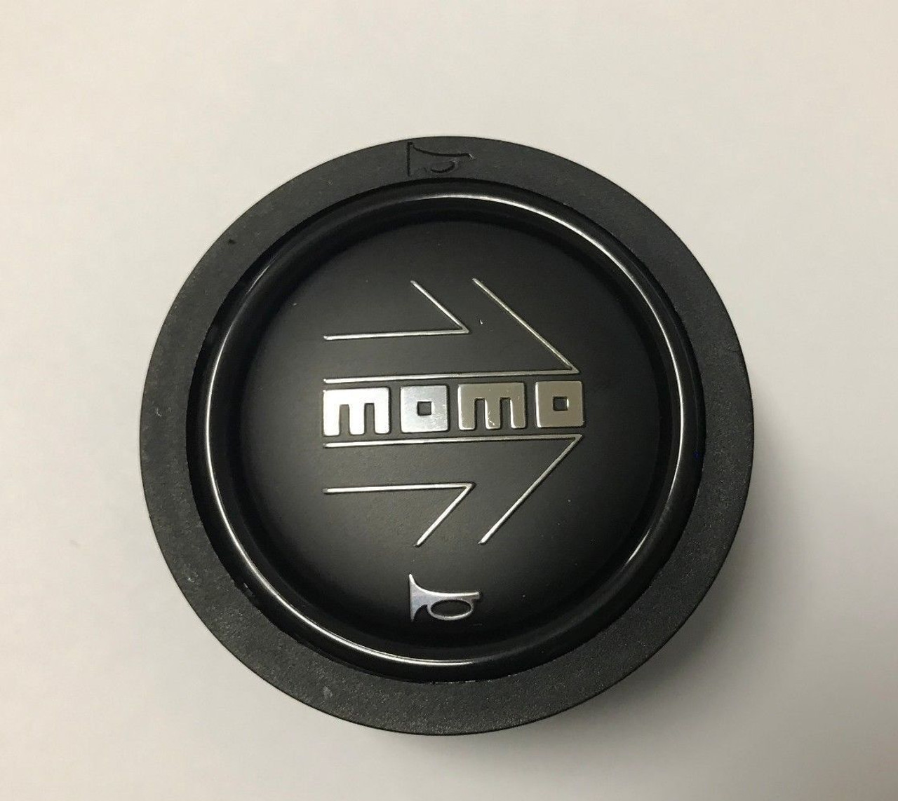 MOMO HORN BUTTON BLACK SMALL