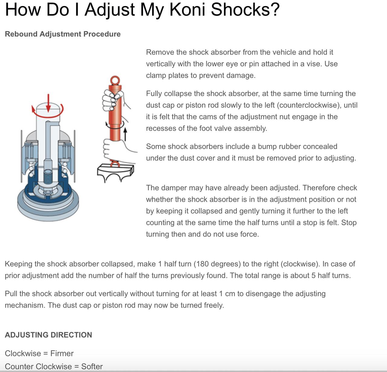 How Do I Adjust My Koni Red Shocks