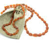 Raw cognac amber teething necklace with companion for Mom