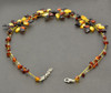 Flower Baltic Amber Necklace