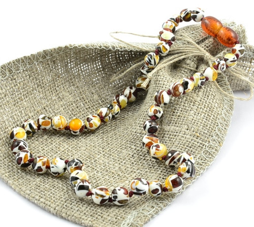 Baltic Amber Teething Necklace MOSAIC