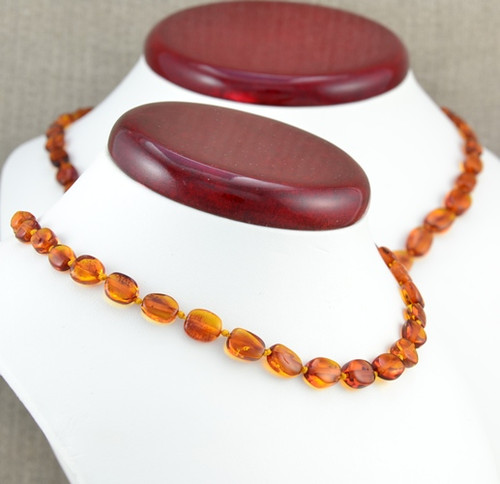 Amber teething necklace with perfect companion for Mom