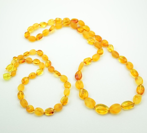 amber healing necklaces set for Mom and Baby