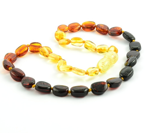 Amber Teething Necklace Rainbow