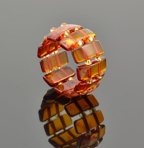 Amber Healing Ring