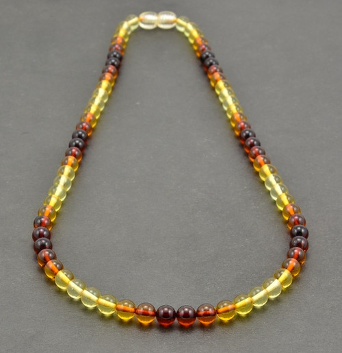 Men's Beaded Necklace Handmade of Amazing Healing  Amber