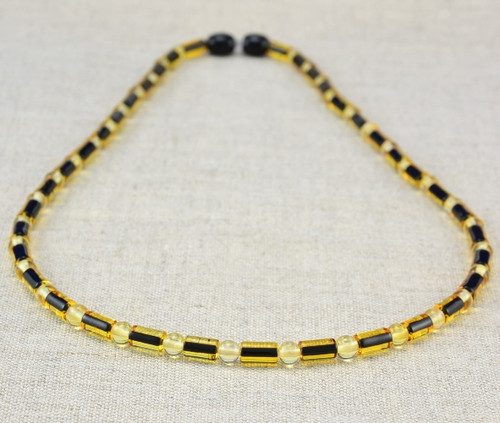 Mens amber necklace