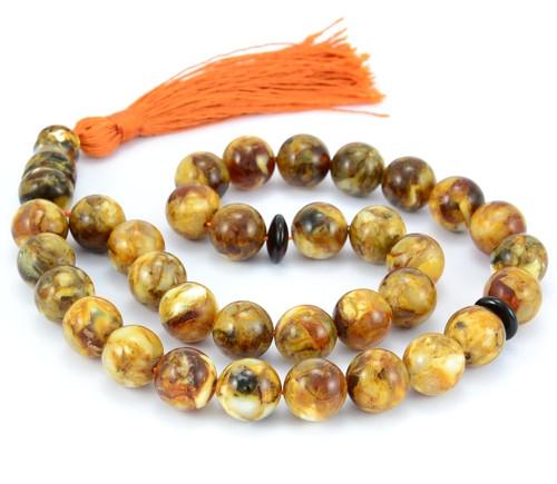 Islamic 33 Prayer ROUND Baltic amber beads
