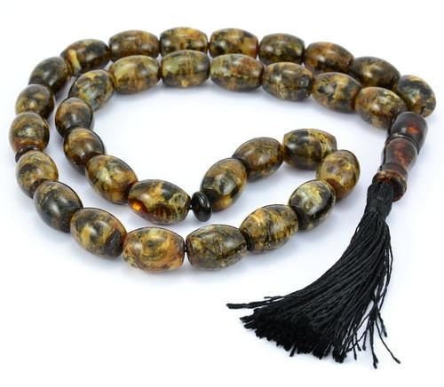 Islamic 33 Prayer Tube Baltic Amber Beads