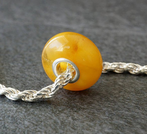 Baltic Amber Charm Bead
