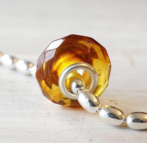 Amber Charm Bead