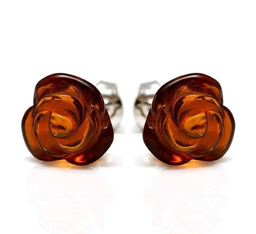 Baltic Amber Stud Earrings