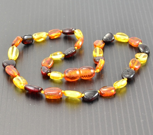 Baltic Amber Teething Necklace Multicolor