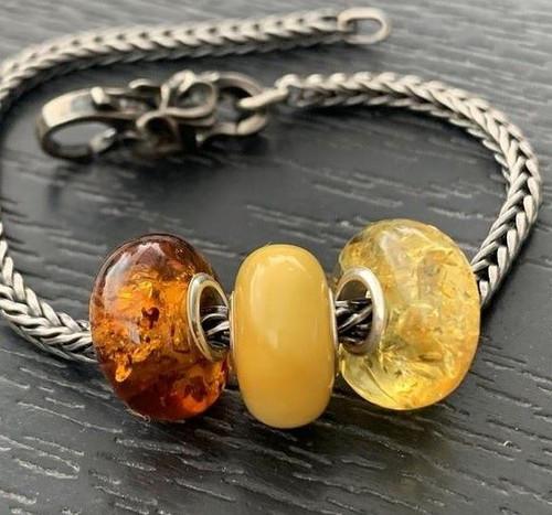 Amber Charm Beads