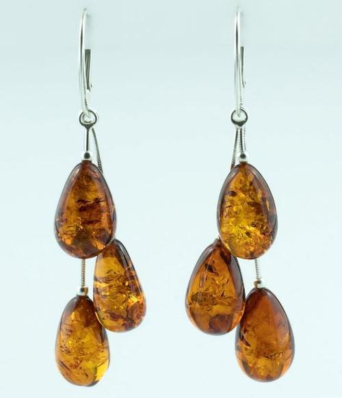 Teardrop Amber Earrings