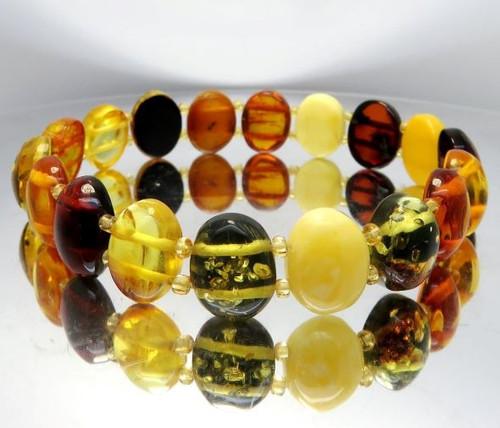 Baltic Amber Bracelet Handmade of Precious Healing Amber