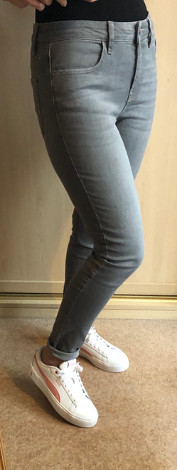 Grey Stretch Denim Jeans