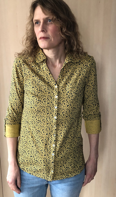 Mustard Floral Jersey Top