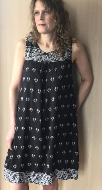 Geo Print Grey Dress