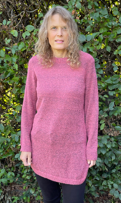 Pink Boucle Jumper