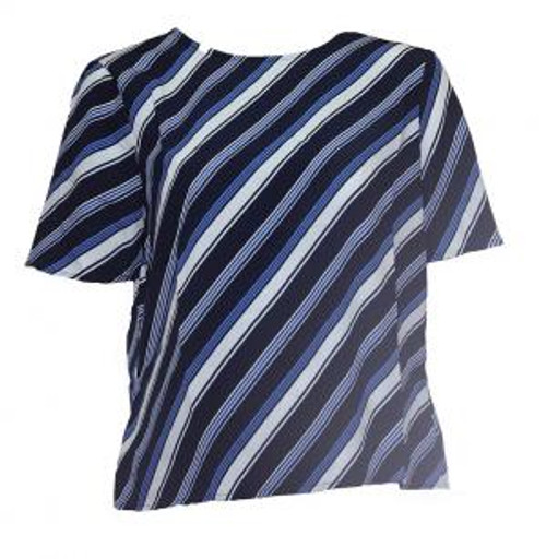 Navy White & Blue Stripe Top
