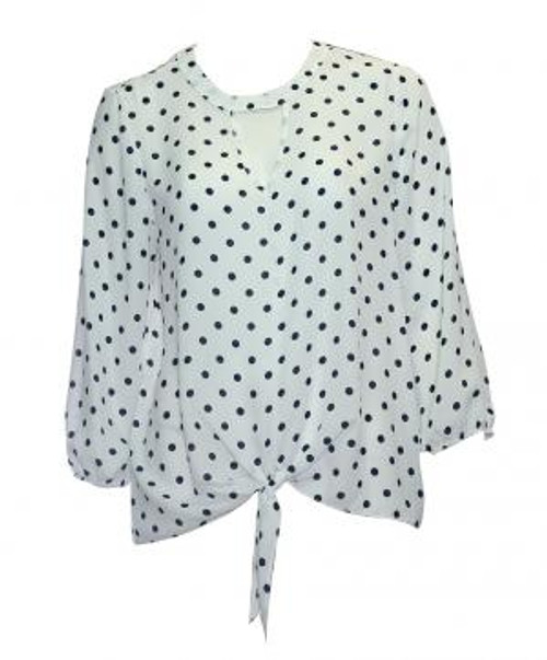White With Black Spot Top