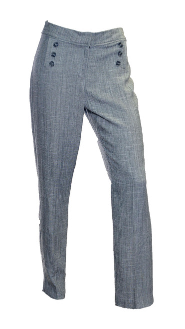 Grey Button Detail Trousers