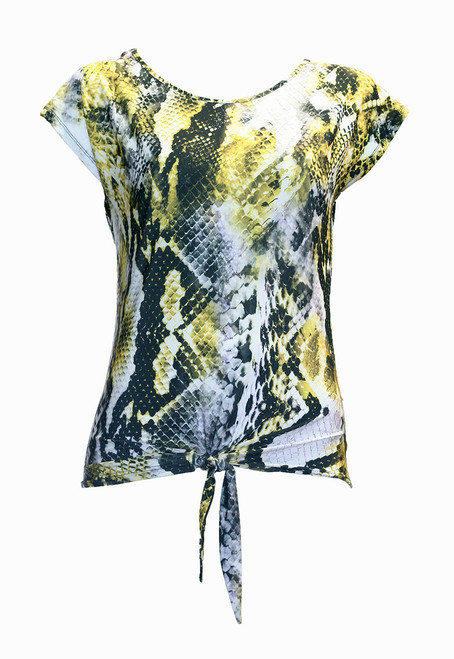 Yellow & Grey Snake Skin Top