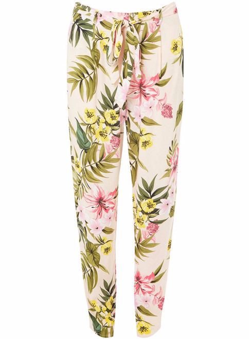 Pink Floral Trousers