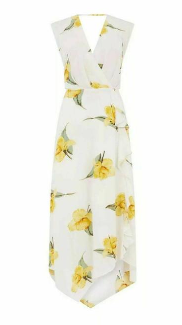 White Dress With Lemon Flowers